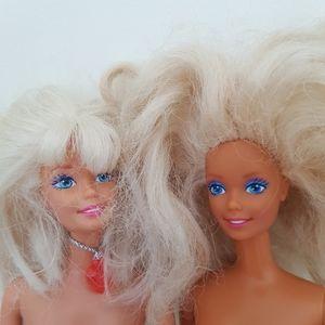 Two 1966 Barbie Dolls. Barbies. Vintage. Platinum